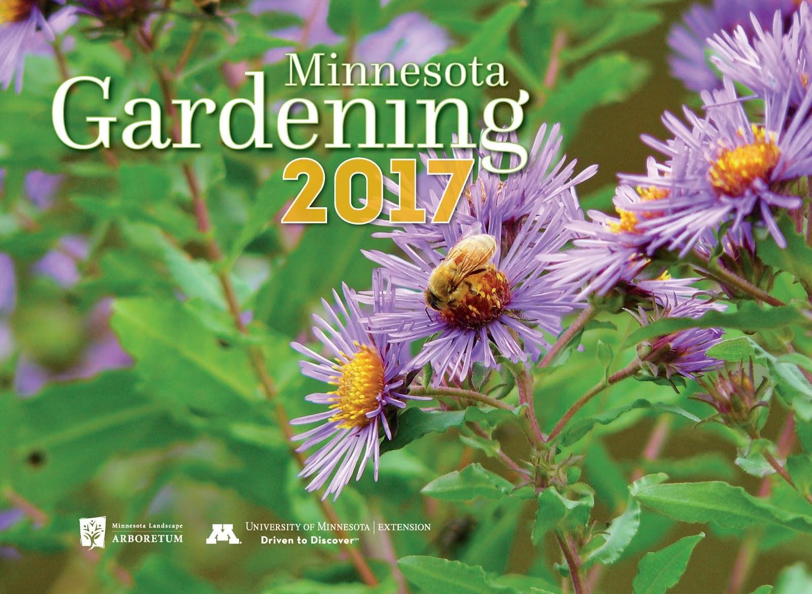 order the 2017 minnesota gardening calendar for a favorite gardener