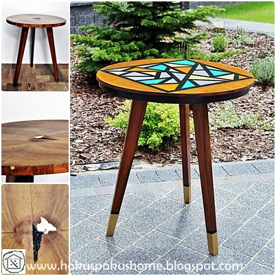 Geometryczne wzory stolik