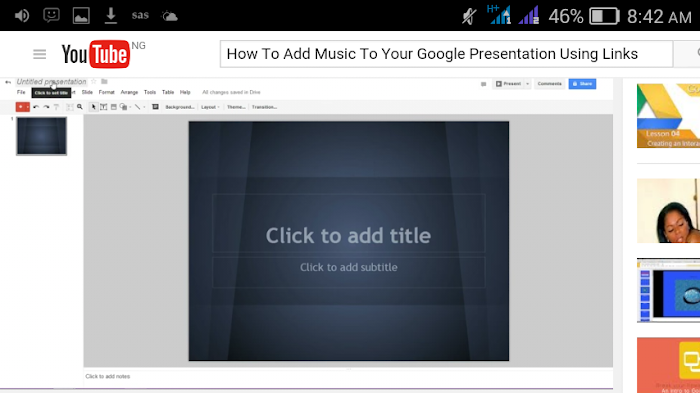 How To Add Music To Your Google Presentation Using Links