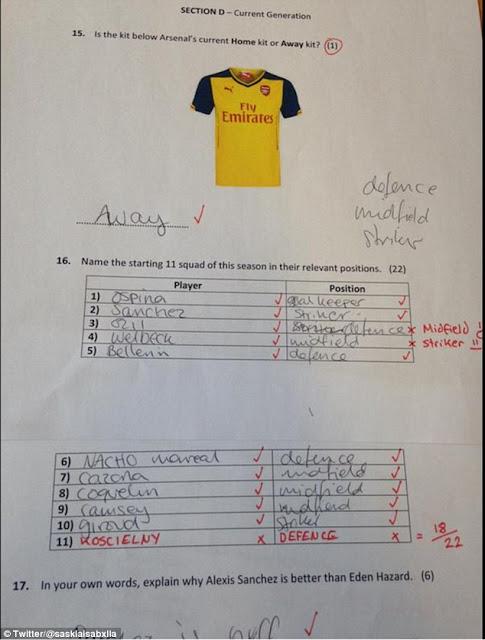 Le hace a su novia un examen sobre el Arsenal para probarla