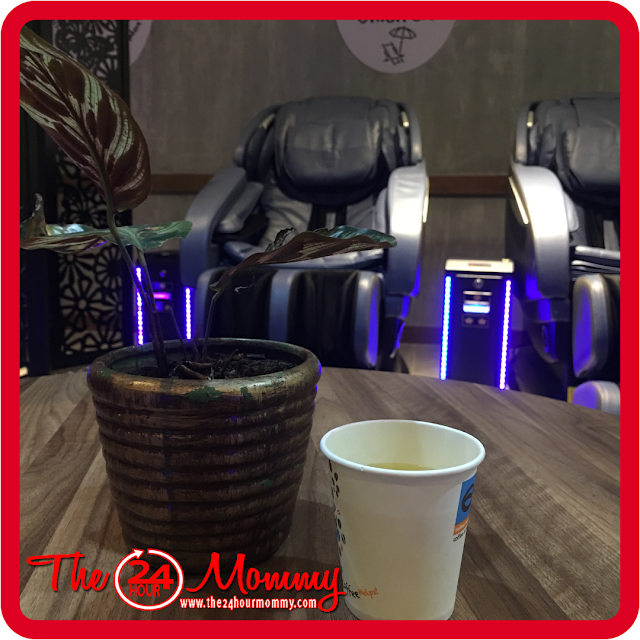 free Japanese tea at The Luxe Lounge