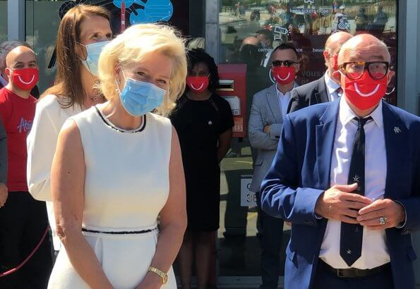 Princess Astrid, Prince Lorenz and Prime Minister Sophie Wilmes attended the re-opening ceremony of the Atomium