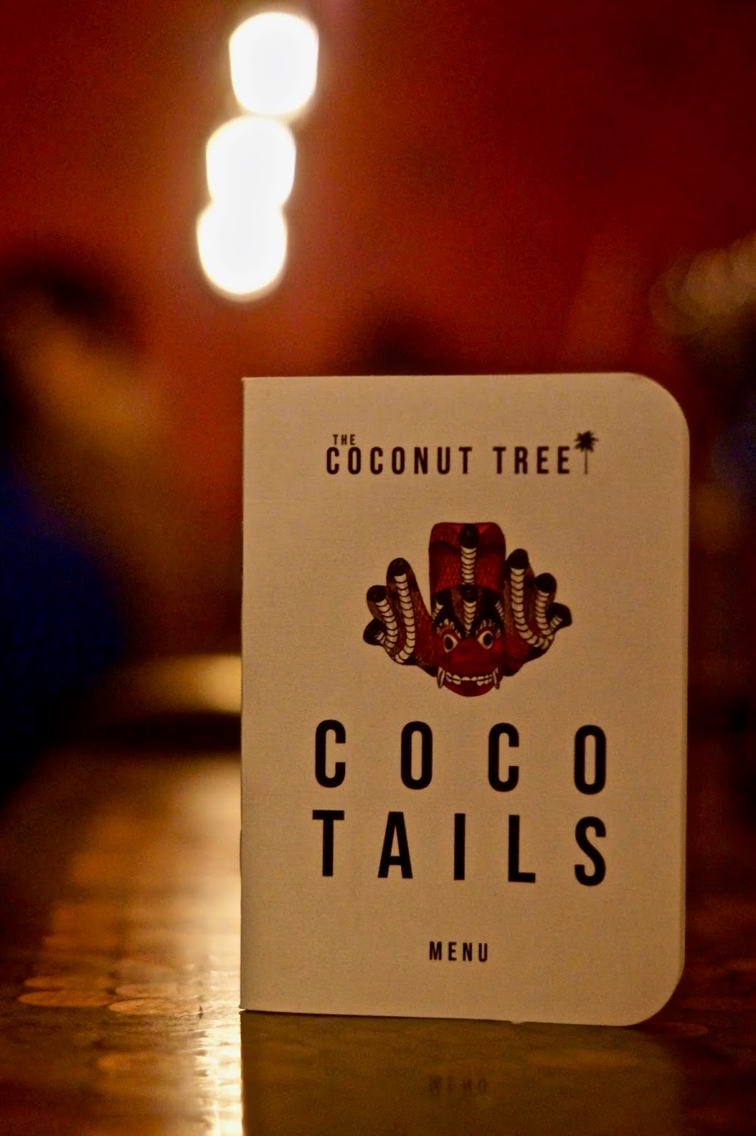 the coconut tree cocktaill menu