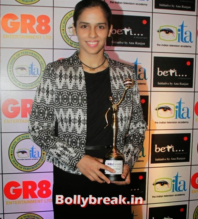 Saina Nehwal, Shriya Saran, Sridevi, Tamanna at GR8 Women Awards 2014