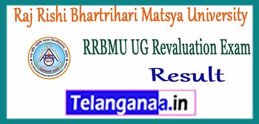 RRBMU Raj Rishi Bhartrihari Matsya University UG Revaluation Result 2017