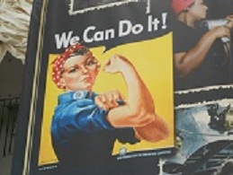 rosie the riveter poster in richmond ford plant