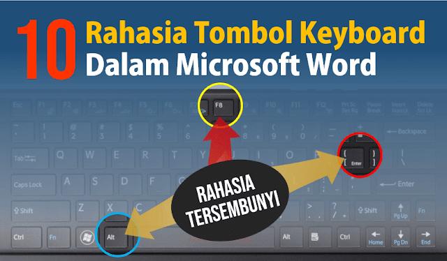 10 Trik Rahasia Tombol Keyboard dalam Microsoft Word