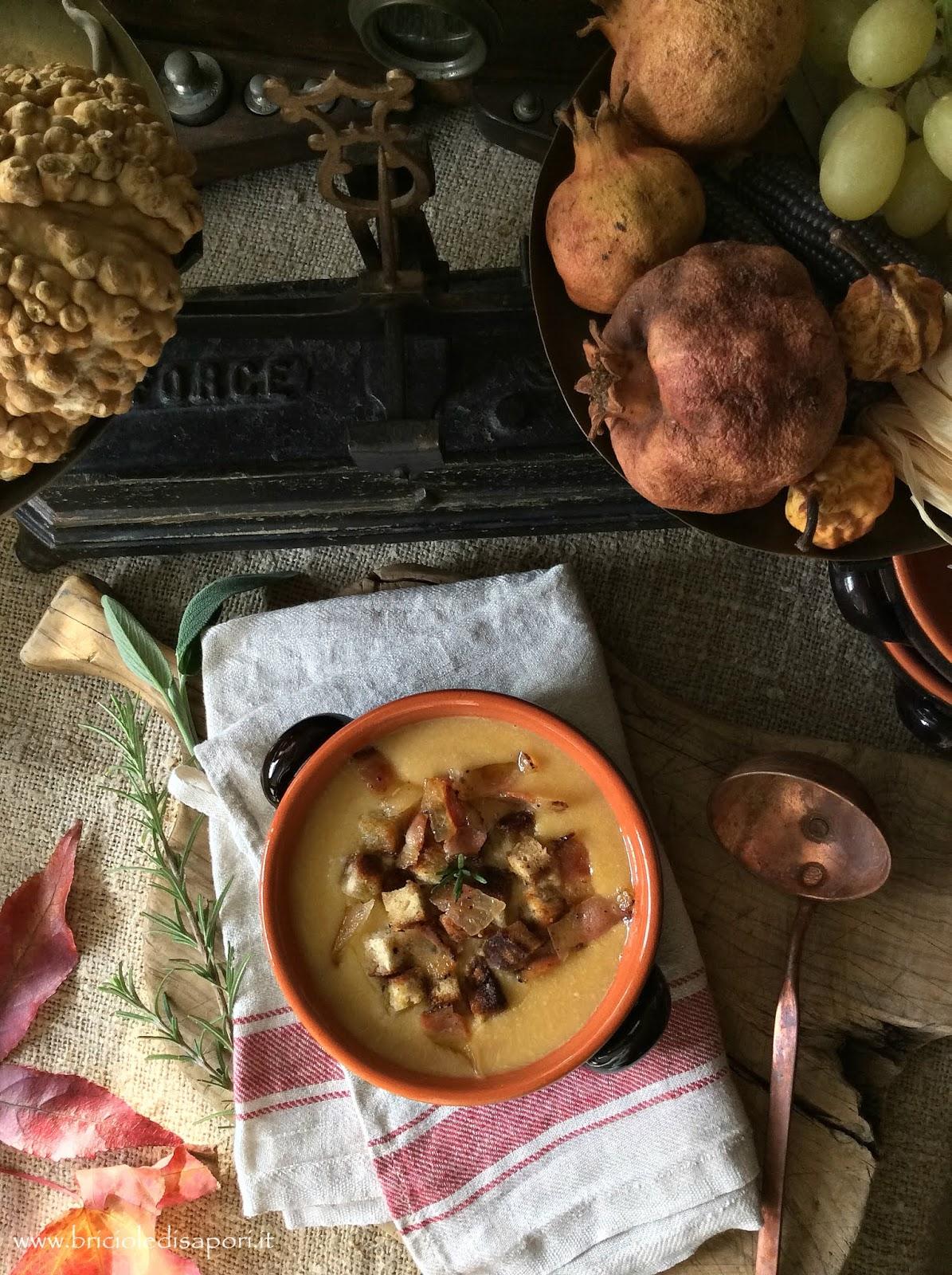 vellutata di ceci e patate con crostini