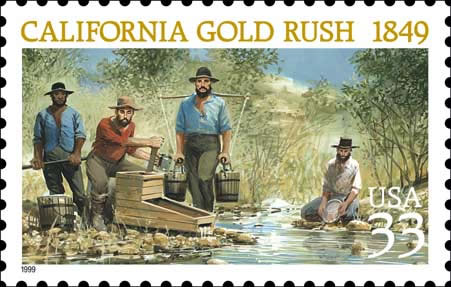 Image result for the california gold rush 1848