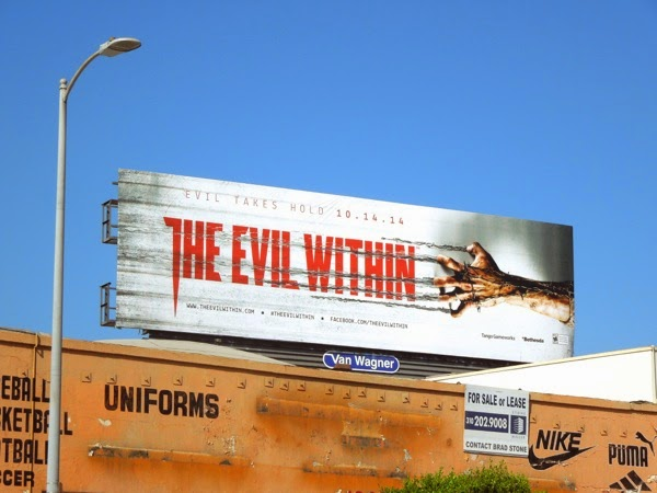Evil Within video game billboard