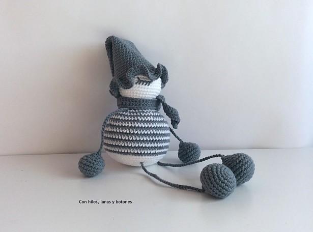Patrón crochet Duende Elfa Navideña - Amigurumi Duendelfilla PDF ... | 456x615