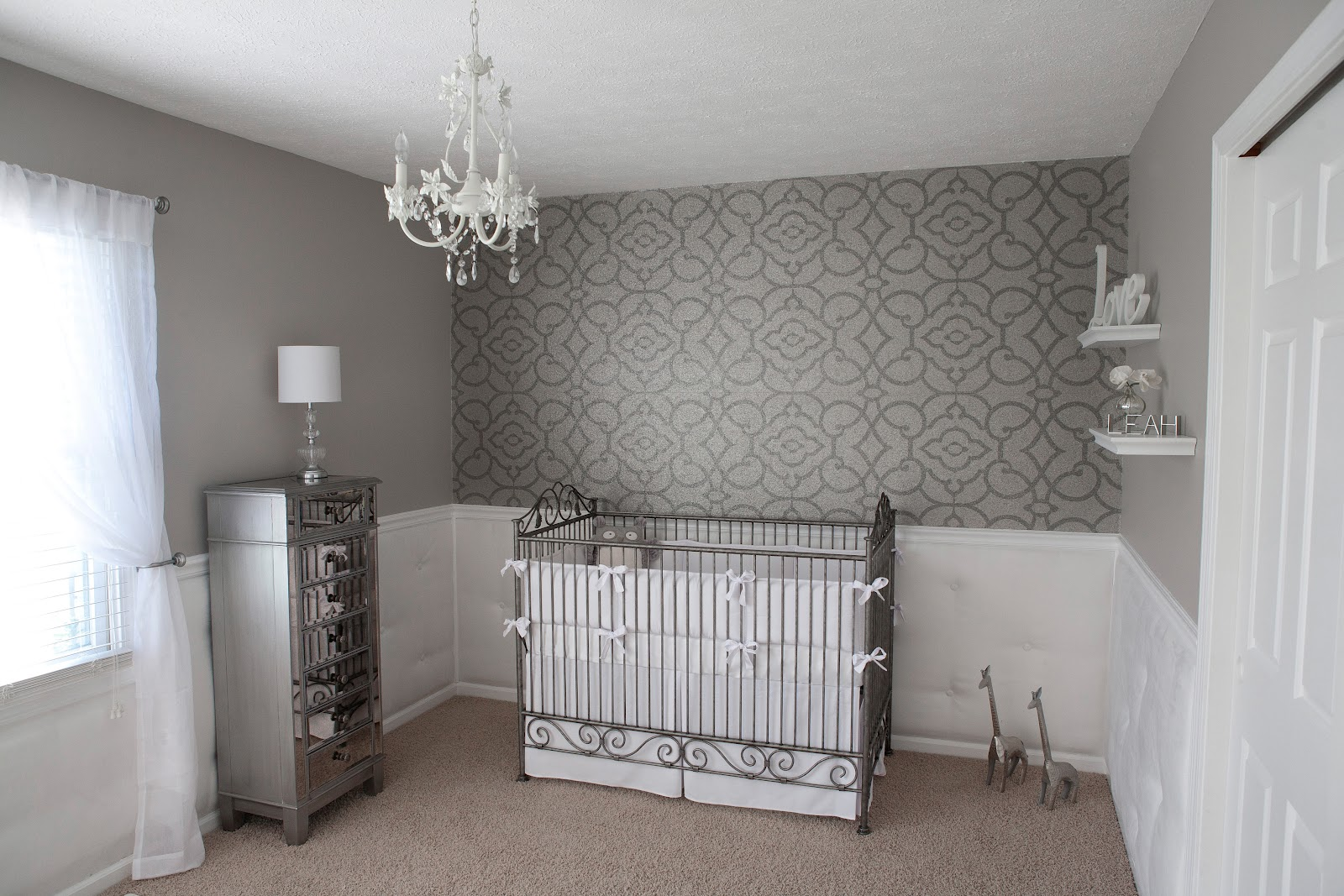 Wall With Wallpaper For The Nursery