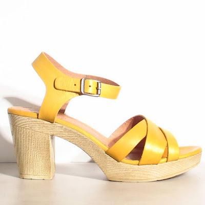 Sandales Sessun talons Oro miel