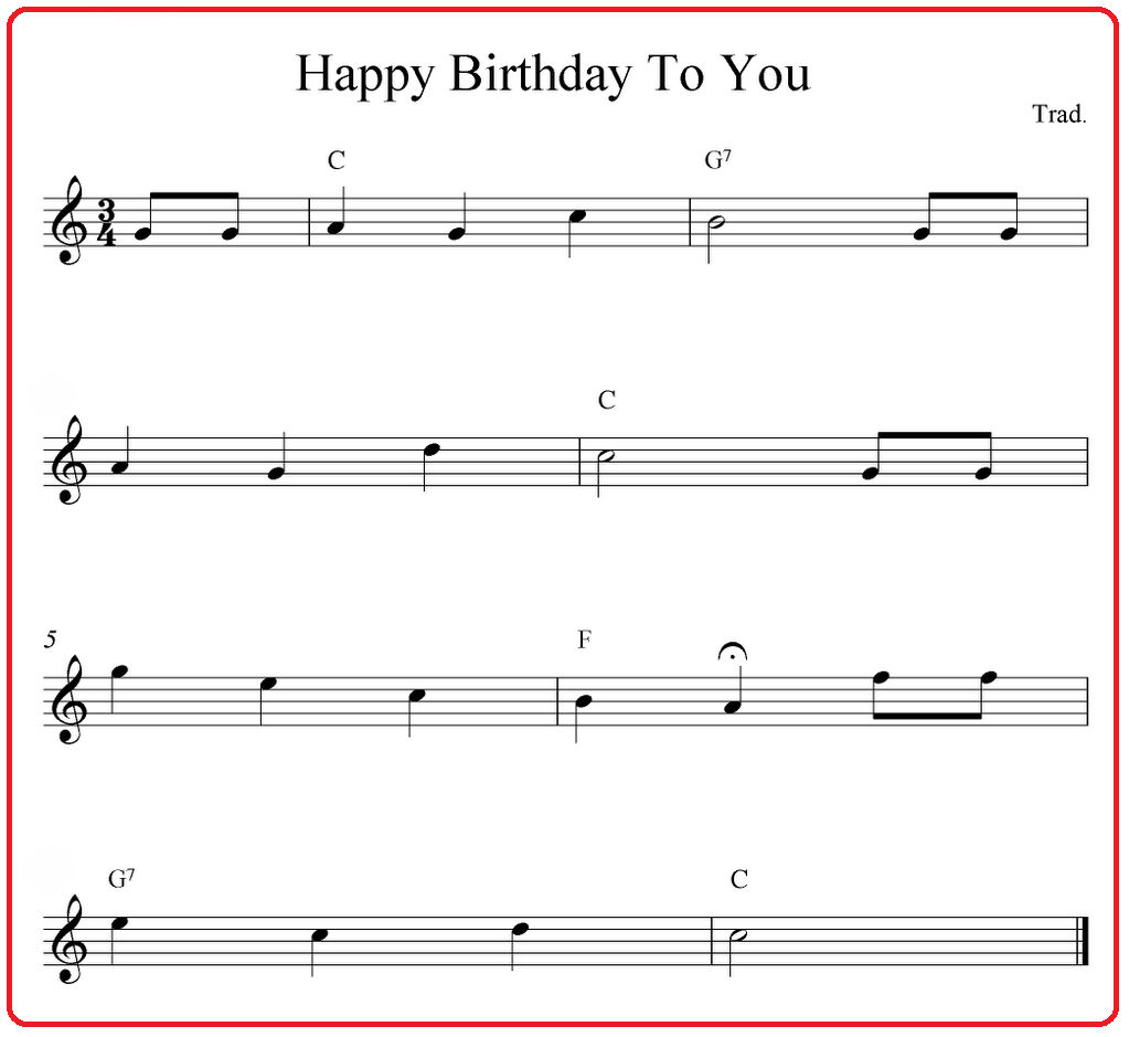 Be the Life and Soul of the Party and Learn Beginner Piano Chords Easy Happy Birthday - Myadran Info