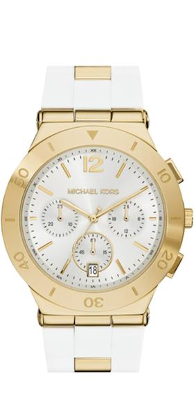 Michael Kors 'Wyatt' Chronograph Silicone Strap Watch
