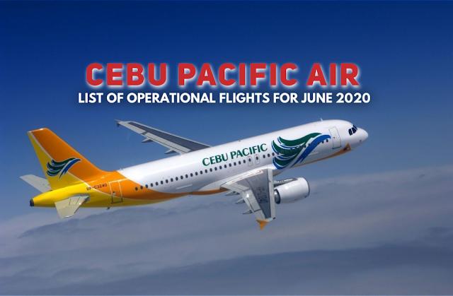 List of Cebu Pacific Flights June 2020