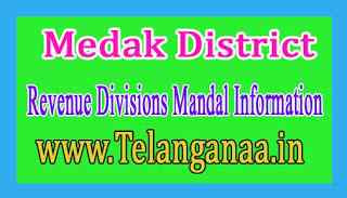 Medak District Revenue Divisions Mandal Information