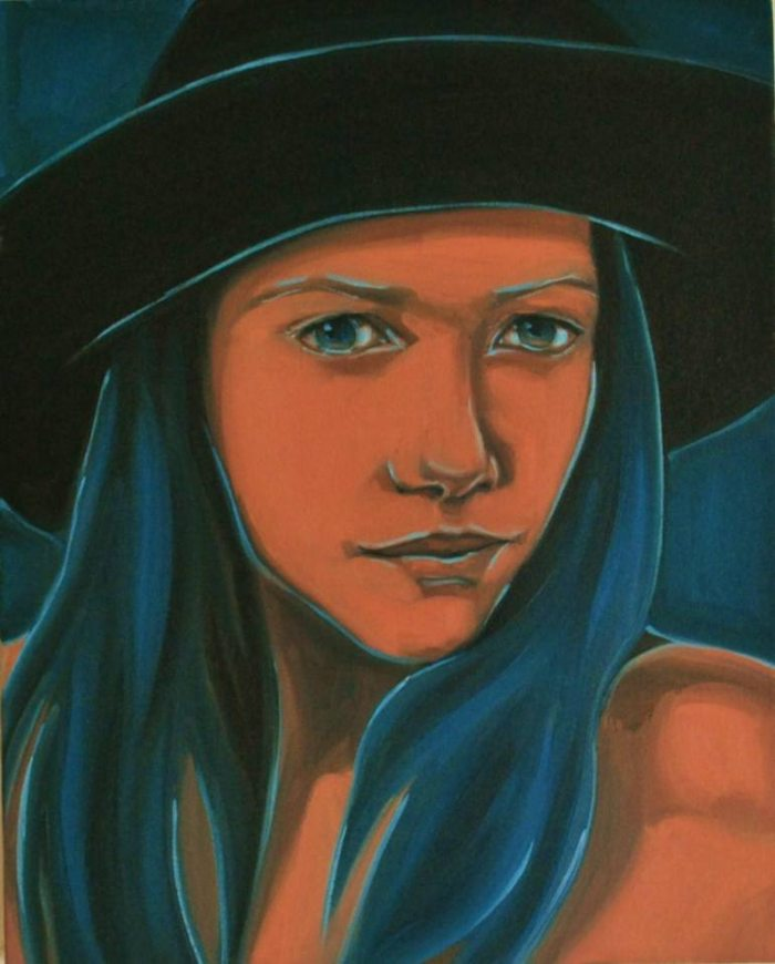 Смелые цвета и сильные мазки. Varvara Stylidou