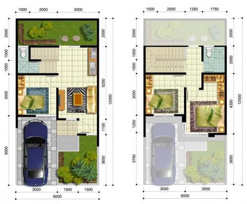 28 Contoh Desain Rumah Minimalis Sederhana Type 21 Dengan Denah