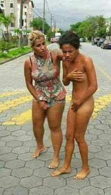 A Furious Wife Frogmarched A Woman Naked Through A Residential Area After Catching Her In Bed With Her Husband