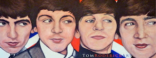 Red White Beatles by Boulder artist Tom Roderick
