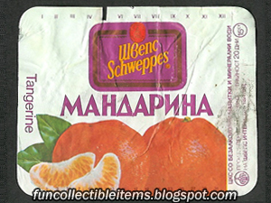 Мandarin Schweppes soda Cyrillic label from 1994