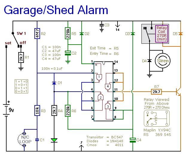 Rangkaian Alarm Garasi