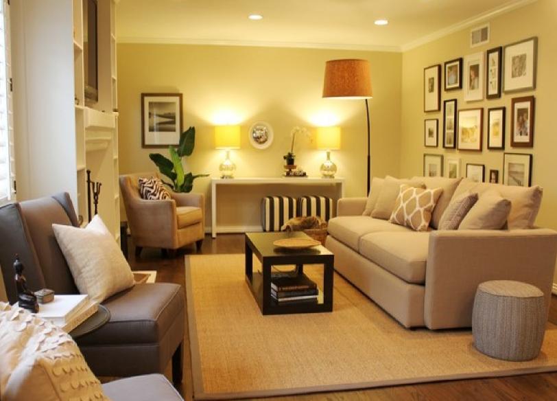 Kombinasi Warna Cat Ruang Tamu Dengan Plafon Paling elegan