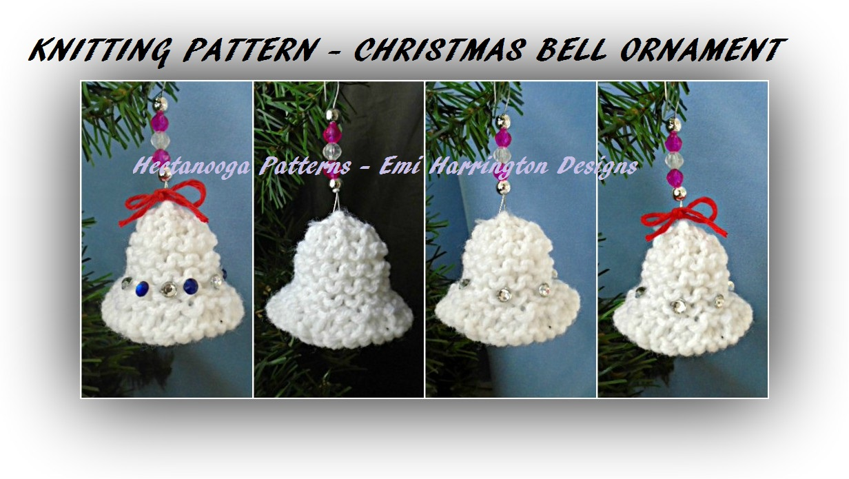 Hectanooga patterns knitting pattern christmas bell ornament knitting pattern christmas bell ornament bankloansurffo Images
