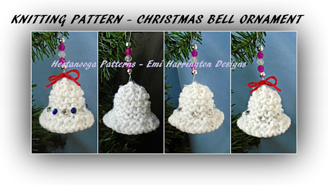Hectanooga Patterns Knitting Pattern Christmas Bell Ornament
