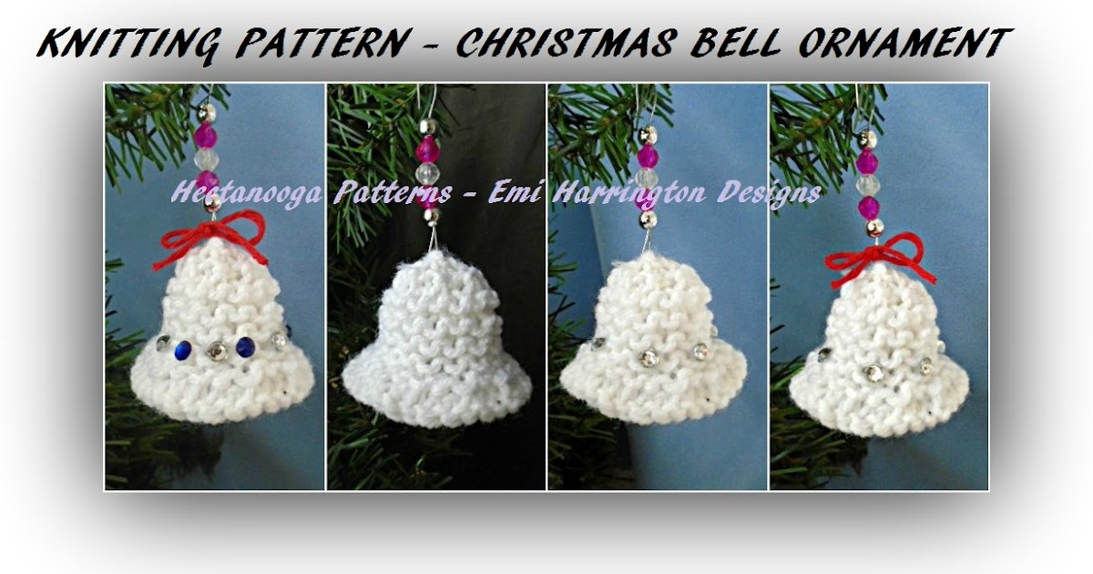 Hectanooga patterns knitting pattern christmas bell for Knitted christmas bells
