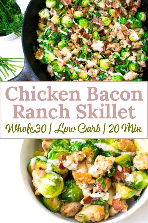 Chicken Bacon Ranch Skillet