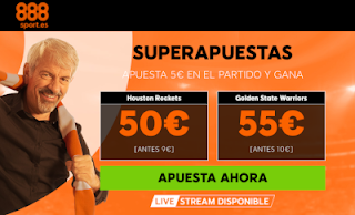888sport superapuestas nba Houston v Golden State 15 noviembre
