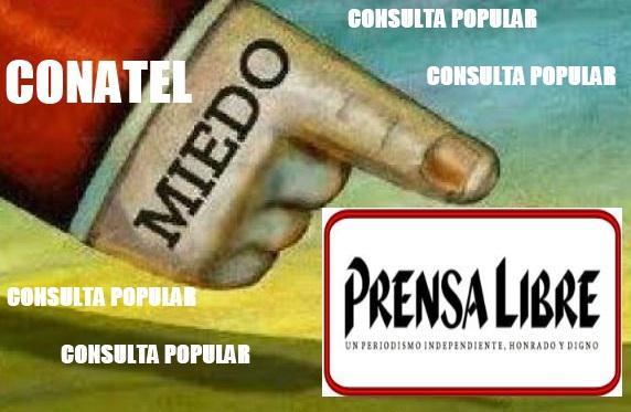 Conatel (#TieneMiedo) y prohibe llamar #ConsultaPopular acto del Domingo