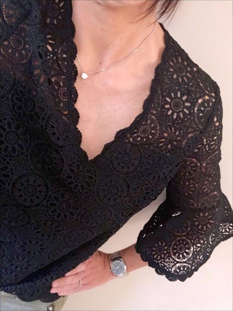 My Midlife Fashion, Somerset by Alice Temperley lace fluted sleeve top