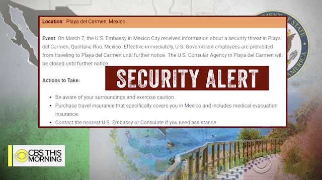 Drug cartel violence triggers security alert for Mexican resort town