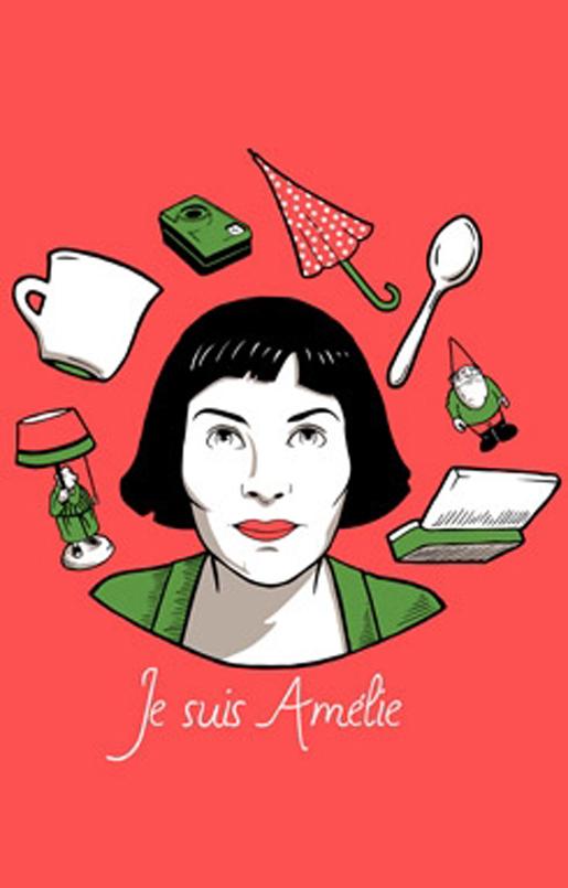 Salada De Croqui Eu Quero Camiseta Amelie Poulain