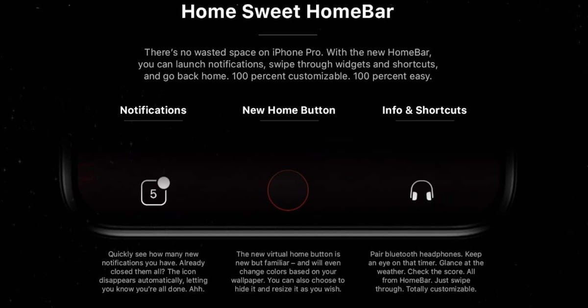 new iphone 8 concept with homebar in ios 12 and more. Black Bedroom Furniture Sets. Home Design Ideas