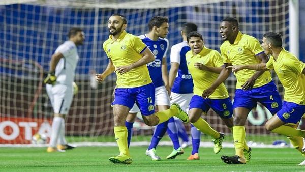 مقابلة فريق النصر امام الرائد ضمن الدوري السعودي