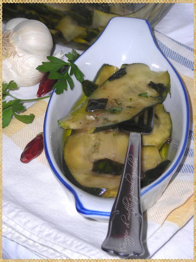 Zucchine in marinata