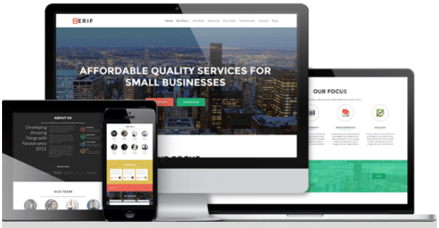 free responsive one page wordpress theme