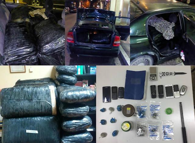 Συνελήφθησαν τέσσερα άτομα με 110 κιλά κάνναβης