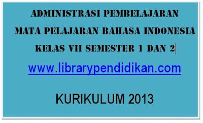 Download Perangkat Pembelajaran Bahasa Indonesia SMP MTs Kelas VII (7) Kurikulum 2013, www.librarypendidikan.com