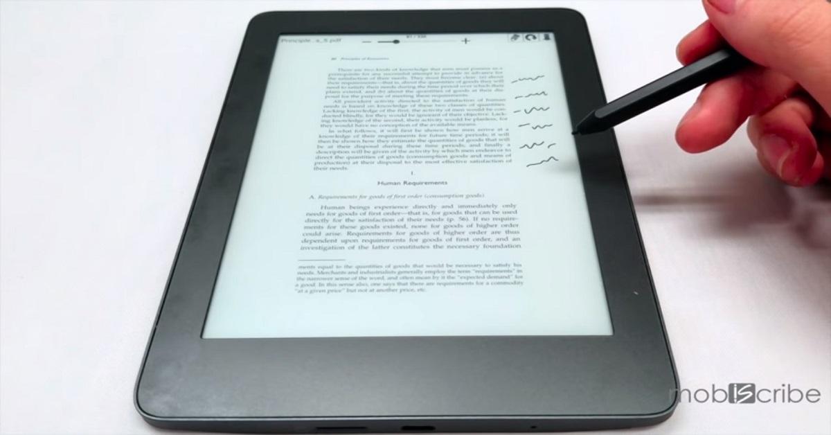 MobiScribe - czytnik i notatnik w jednym