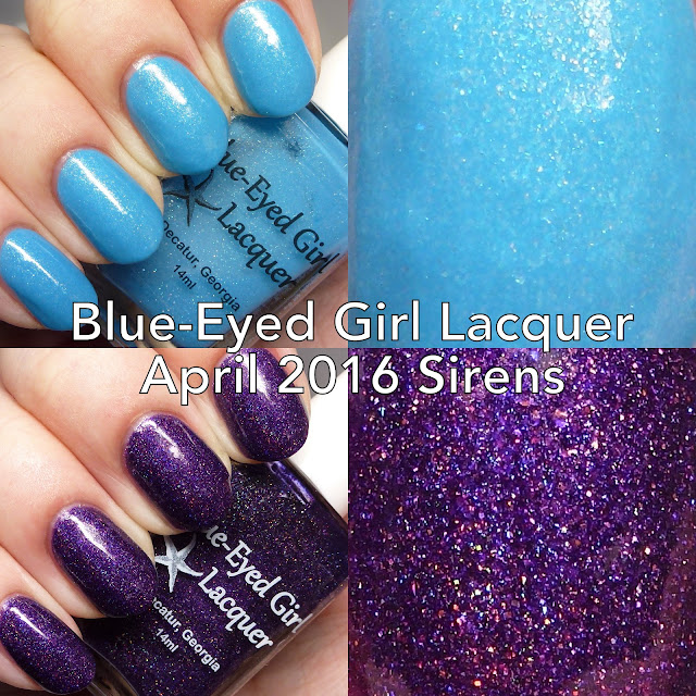 Blue-Eyed Girl Lacquer April 2016 Siren Polishes