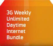 3G Weekly Unlimited Daytime Internet Bundle