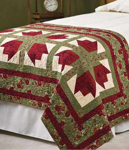 Bed of Roses Quilt Free Pattern