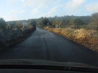Asfaltirana dionica ceste Škrip - Nerežišća slike otok Brač Online