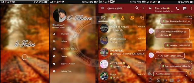 BBM Mod Fution Autumn Style Theme v3.1.0.13 Apk terbaru