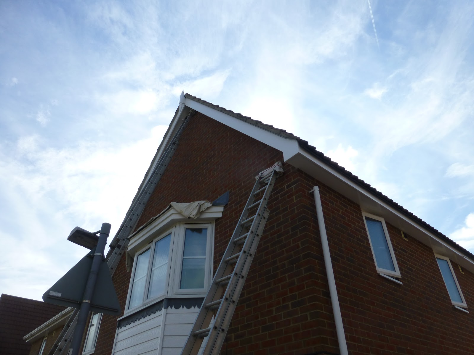 House painted in August 2016  Fascias & Soffit boards